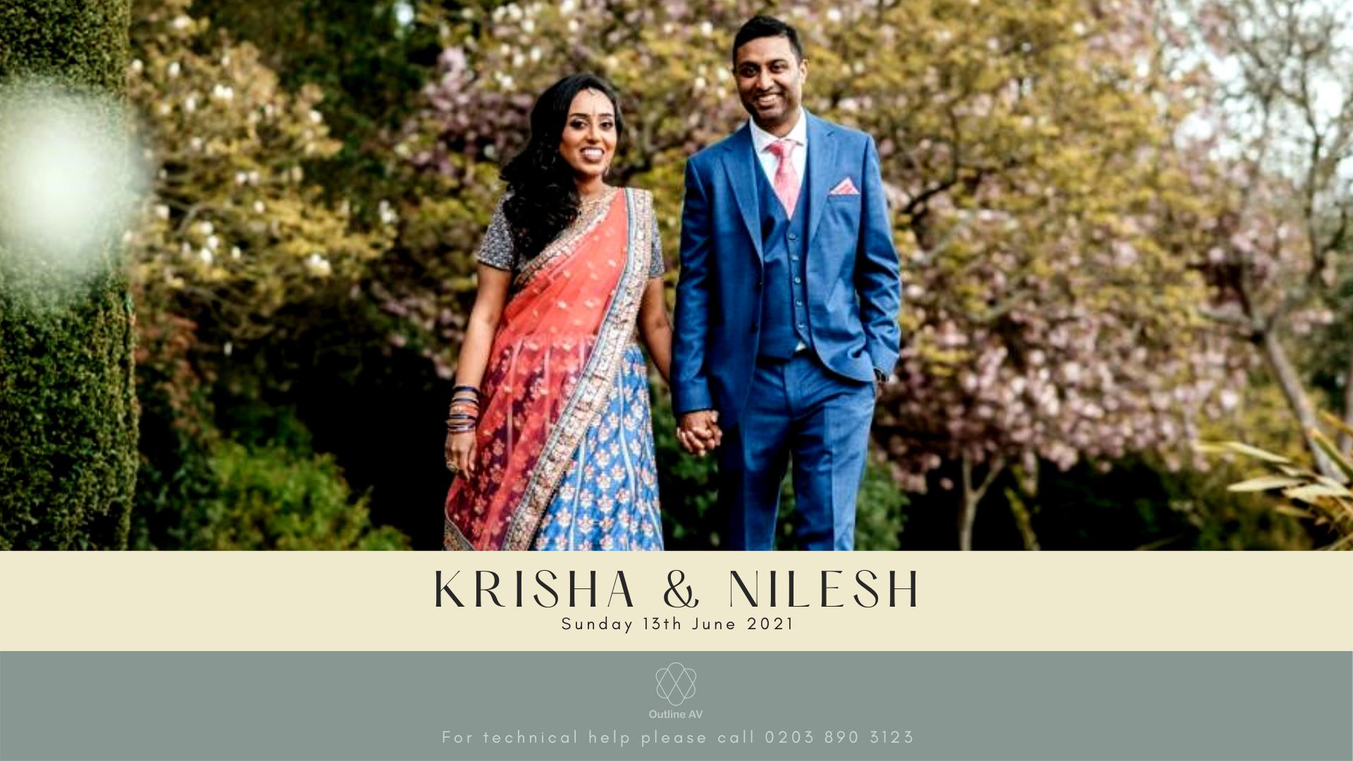 Krisha & Nilesh - Live Stream