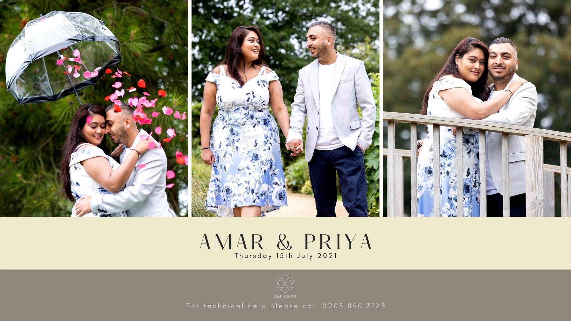 Amar & Priya - Live Stream